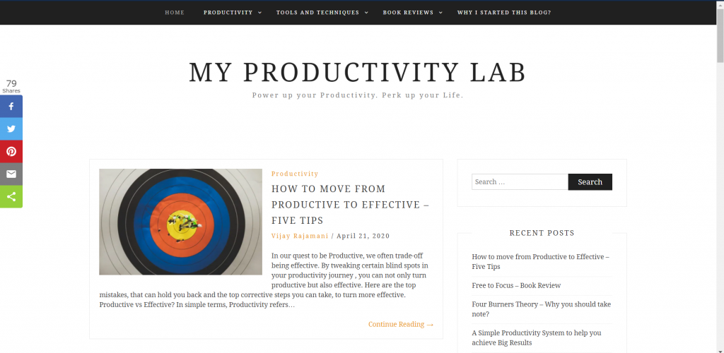 productivity blogs in India